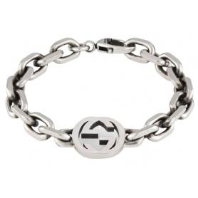 Gucci unisex chain bracelet with logo - YBA627068001018