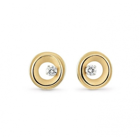 Annamaria Cammilli My Way earrings yellow gold and diamonds GOR2672U