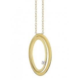 Annamaria Cammilli Serie Uno necklace yellow gold and diamonds GPE2796U