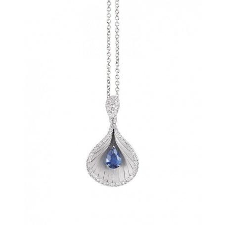 Annamaria Cammilli Premier Color Necklace with Diamonds and Sapphire