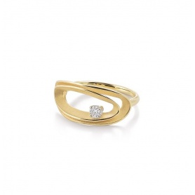 Annamaria Cammilli Serie Uno ring in yellow gold and diamonds GAN2814U