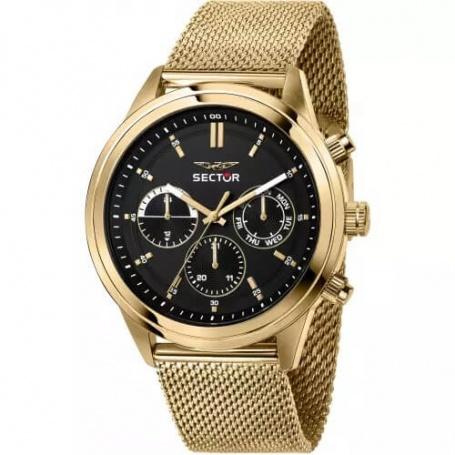Sector670 men's watch Milanese gold mesh - R3253540001