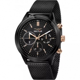 Sector670 men's watch Milanese black mesh - R3253540002