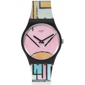 Swatch X Moma Piet Mondrian -GZ350 watch