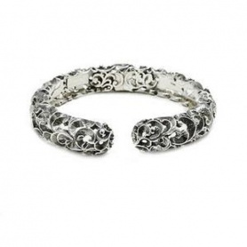 Contrariè Maria and Luisa rigid bracelet in inlaid silver -BA0079