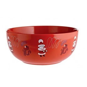 Alessi Get Nuts bowl for dried fruit in red porcelain AMGI56R