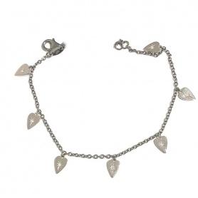 Otto Gioielli bracelet in 925 silver with pendant micro hearts