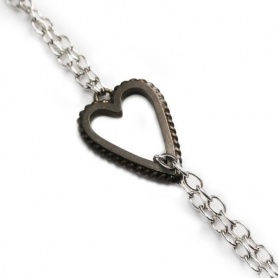 Otto Gioielli bracelet in silver with hollow heart
