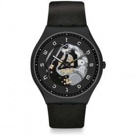 Swatch Essentials White Side Black Watch -SS07B101