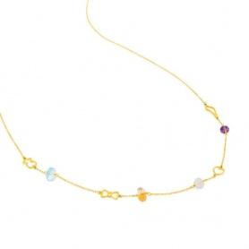 Tous Silueta gold necklace with precious stones -313562000