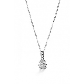 Le Bebè Bimba necklace white gold and diamonds -LB154