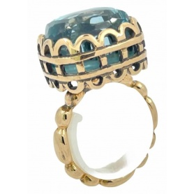 Laurent Gandini Rectangular Bon Ton ring -131