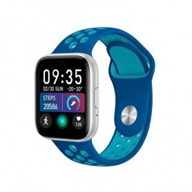 Tecnochic Smartwatch Unisex Silber und Hellblau -TCT9904129