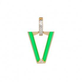 Valentina Ferragni Mono orecchino Uali Green -DVF-OR-LU5