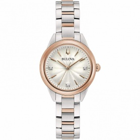 Bulova Sutton Lady Watch Steel and rose -98P200
