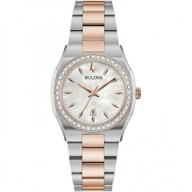 Bulova Surveyor Lady Watch Steel and rose -98R283