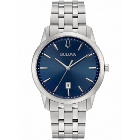 Bulova Sutton watch in Steel and blue dial -96B338