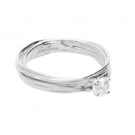 Filodellavita Solitaire 7 strands in White gold with 0.23ct diamond AN102BB / 23