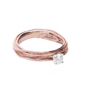 Filodellavita 7-strand Solitaire in Rose gold with 0.23ct diamond AN102RB / 23