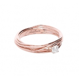 Filodellavita 7-strand Solitaire in Rose gold with 0.14ct diamond AN102RB / 14
