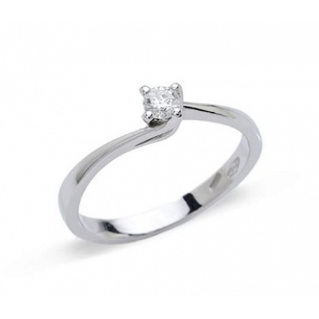 Valentine solitaire ring in white gold with a 0.07ct natural diamond