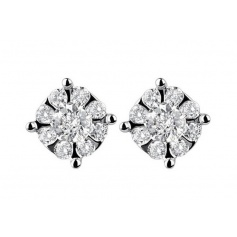 Salvini Daphne light point earrings in gold with diamonds 20059180