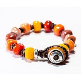 Moi Zabana bracelet with unisex multicolored glass beads