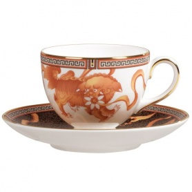 Set of six tea cups and Teapot-50131104064