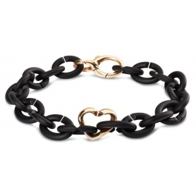 Armband schwarz-Bk01-Bronze-Start