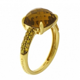 Anello in oro con Quarzo Citrino - 1A06601W31140