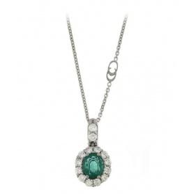 Gold Collier mit Smaragd und Diamanten-1G06656FF5450