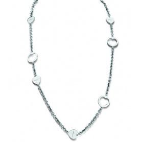 Collana cuore in argento e diamanti - 20046191