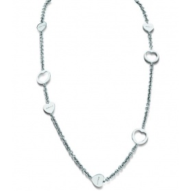 Heart necklace in silver and diamonds - 20046191