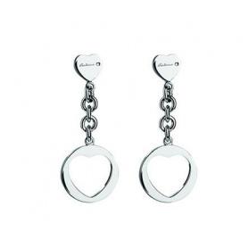 Orecchini a  cuore in argento e diamanti - 20046194