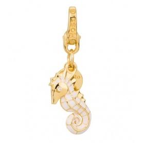 Charm Cavalluccio Marino in argento placcato oro - HL014