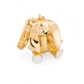 Rabbit charm gold plated silver-BB012