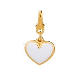 Silver plated Heart Charm gold-BB021