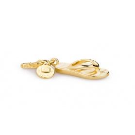 Charm Infradito in argento placcato oro - HL004