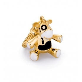 Charm Mucca in argento placcato oro - BB003