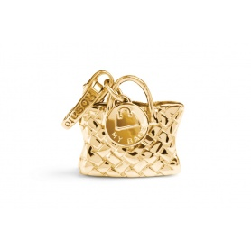Bag charm gold plated silver-BA006