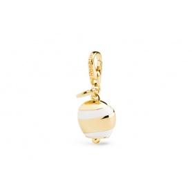 Charme-Vergoldete Silber Bell-LU015