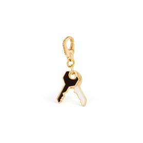 Silberne Schlüssel Charm gold plattiert-SE013