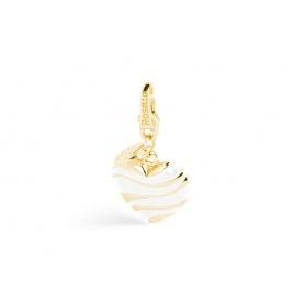Charm Cuore in argento placcato oro - SE005