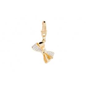 Silberne Schneeflocke Charm gold plattiert-SE018