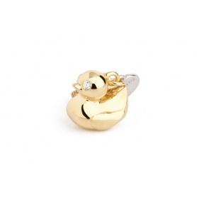 Silber Duck charm gold plattiert-TO012
