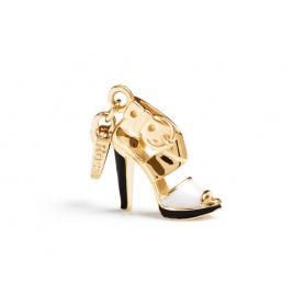 Charme-Vergoldete Silber-Sandale-SH001