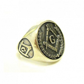 The Freemason silver ring-AN440