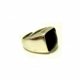 Ring in silver and smoky quartz-AN487