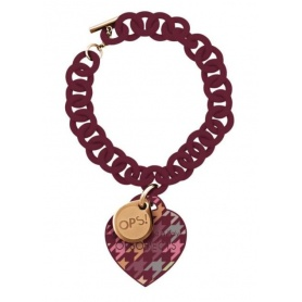 OPS bracelet Houndstooth bordeaux-24BX