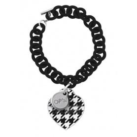 OPS-Armband Houndstooth 22NE-schwarz